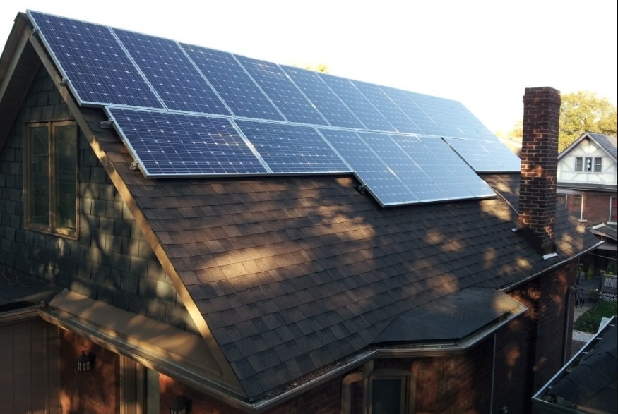 solar panel in shades